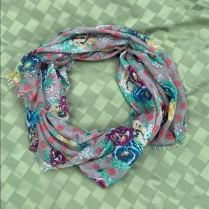BP Lightweight Floral and Polka Dot Scarf